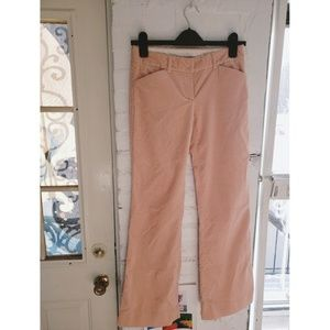 Theory Pink Corduroy Wide Leg Pants